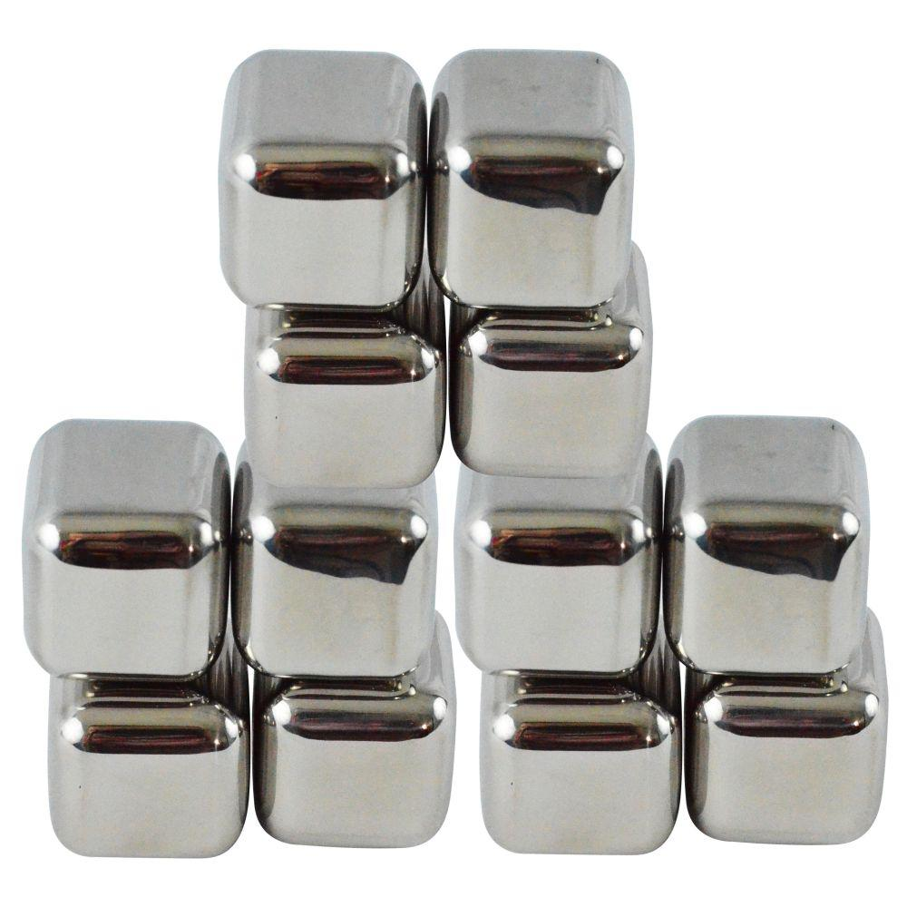 Southern Homewares 12-Piece Stainless Steel Chilling Ice Cubes