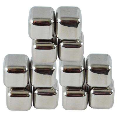 12-Piece Stainless Steel Chilling Ice Cubes