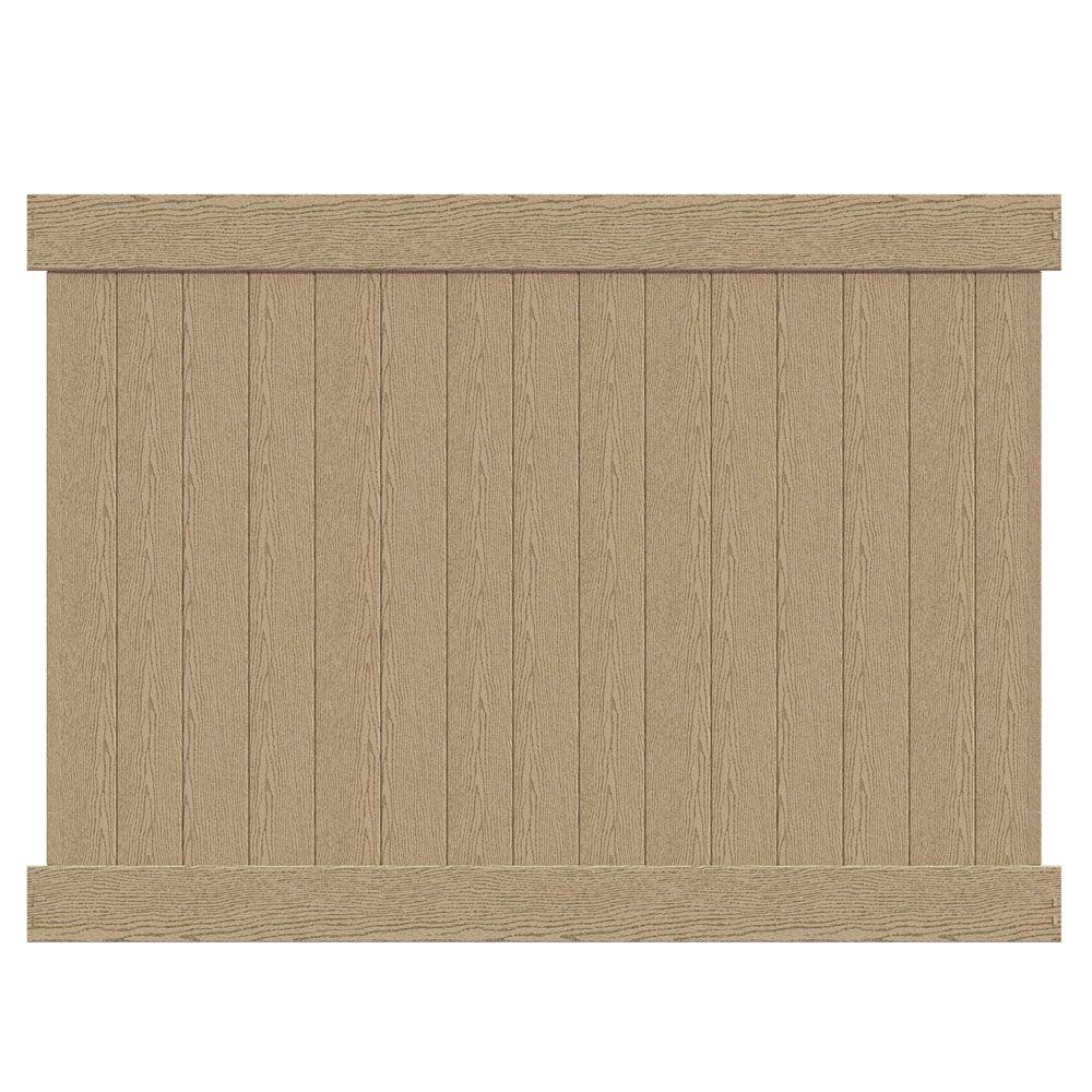brown vinyl fence. W Birchwood Vinyl Privacy Fence Panel Brown