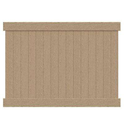 Roosevelt 6 ft. H x 8 ft. W Birchwood Vinyl Privacy Fence Panel Kit (Unassembled)
