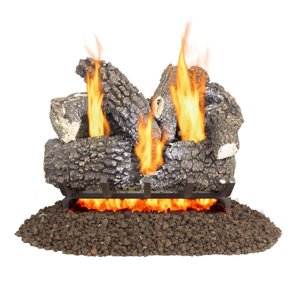 pleasant hearth arlington ash 18 in vented gas log set vl aa18d