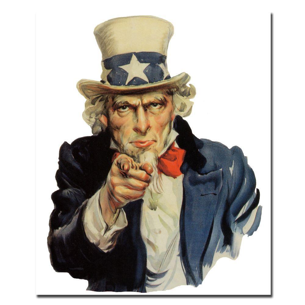 Trademark Fine Art 35 in. x 47 in. Uncle Sam Canvas Art