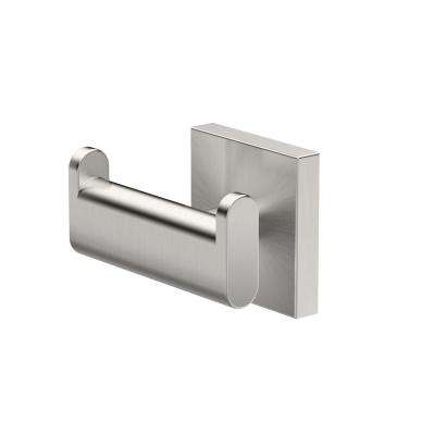 Elevate, Double Robe Hook in Satin Nickel
