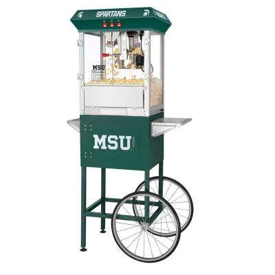 Michigan State University Spartans 8 oz. Popcorn Machine & Cart
