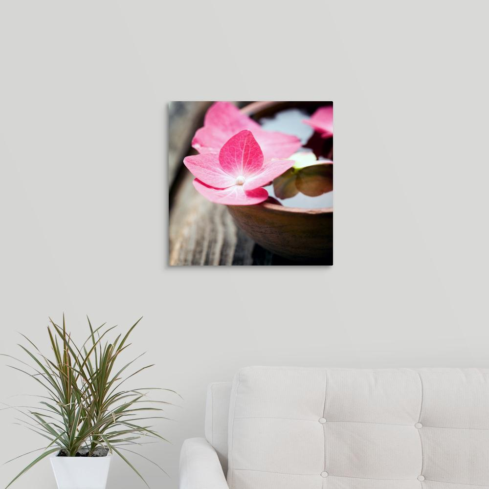 Greatbigcanvas Zen Bowl By Photoinc Studio Canvas Wall Art