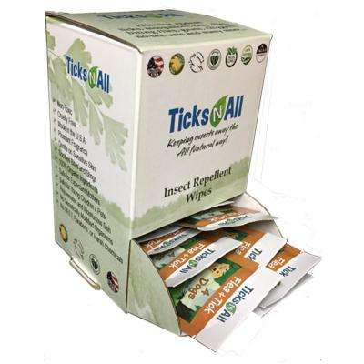 All Natural Flea and Tick Wipes 4-Dogs (50-Count Box)