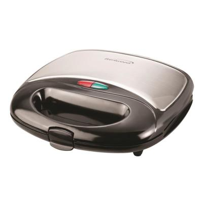 750 W Black Nonstick Panini Press and Sandwich Maker