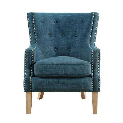 Fanny Blue Upholstered Accent Chair