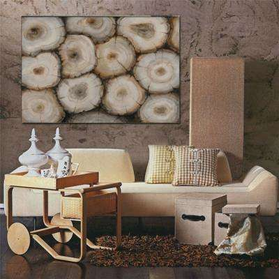 35.43 in. x 47.24 in. Timber Hand Painted Aluminium Wood Wall Art Decor