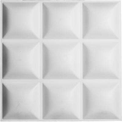 3/16 in. x 19-5/8 in. x 19-5/8 in. PVC White Classic EnduraWall Decorative 3D Wall Panel