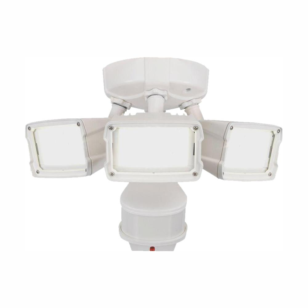 new style d3d1d 29741 Defiant 270 Degree White Doppler Motion Activated Outdoor LED Security  Flood Light