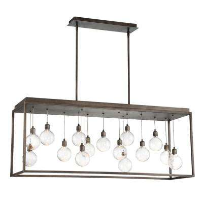 Zarina 27-Watt Bronze Integrated LED Chandelier