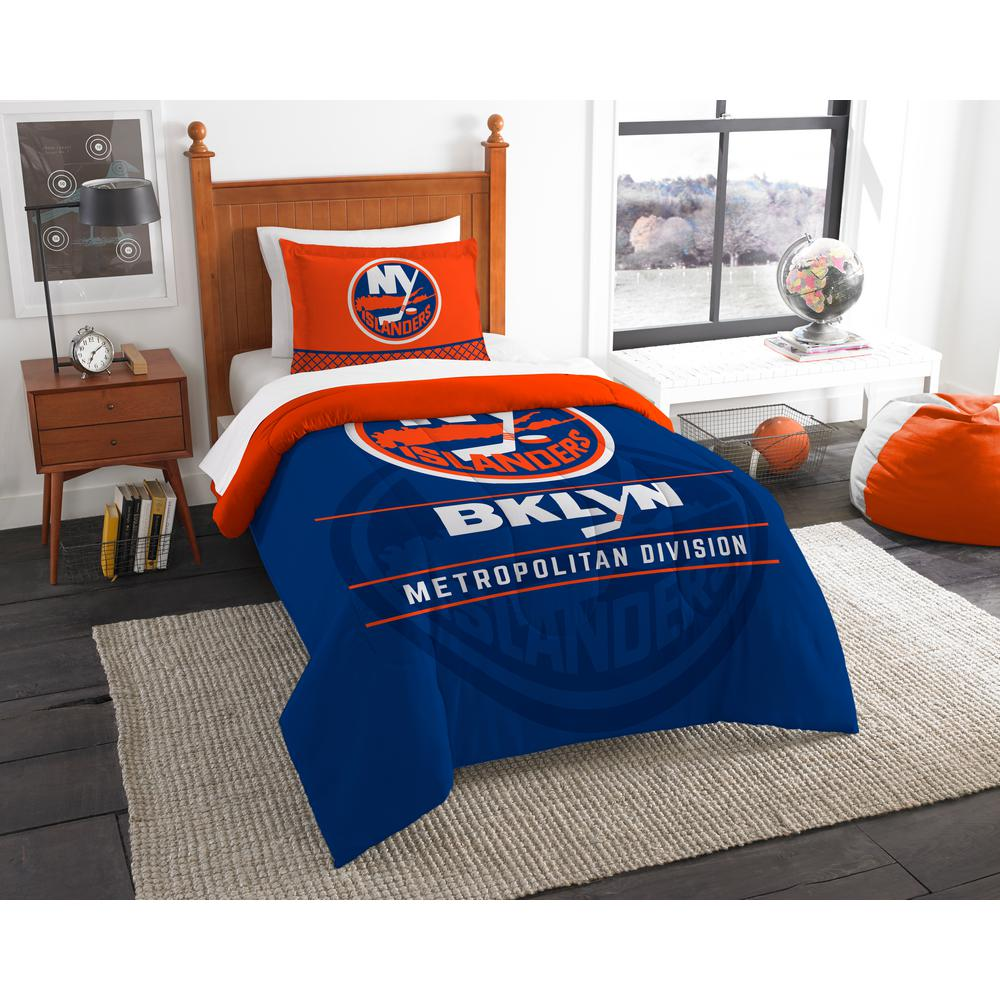 Nhl Islanders Draft 2 Piece Multi Color Polyester Twin Comforter Set 1nhl862010014ret The Home Depot