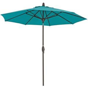 9 ft. Polyester Market Patio Umbrella in Turquoise