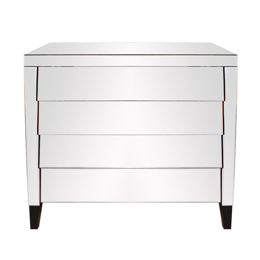 Osaka 4-Drawer Mirrored Dresser