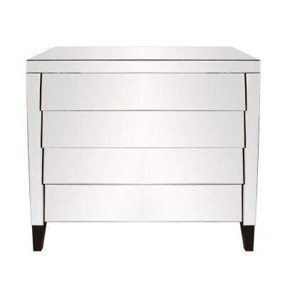 Osaka 4-Drawer Mirrored Dresser