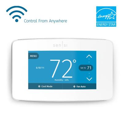 emerson 7 day programmable conventional (1h 1c) digital thermostat Home Thermostat Sensi Wiring-Diagram sensi touch wi fi 7 day programmable thermostat in white