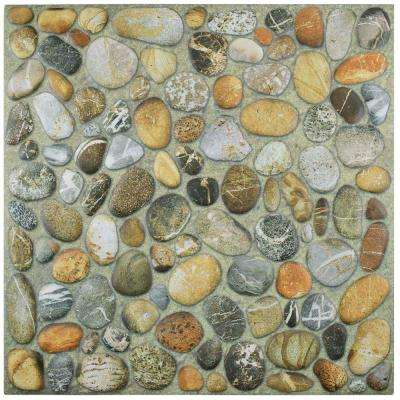 Porcelani Nilo Pebblestone 12-1/8 in. x 12-1/8 in. Porcelain Floor and Wall Tile (12.4 sq. ft. / case)