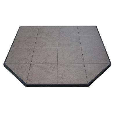 Boxed Hearth Pad Kit 48 in. Corner/Square Safari Sand