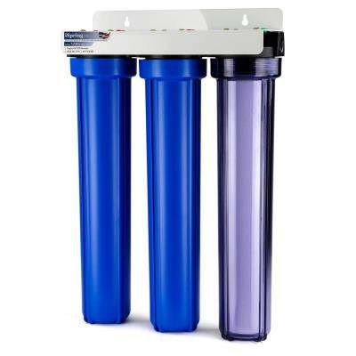 3-Stage 20 in. Whole House Water Filter with 3/4 in. NPT Carbon and Clear Housing on First Stage