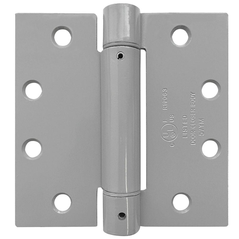 tell 4 5 in x 4 5 in satin chrome spring hinge 4 5 x 4 5 spring 26d hinge the home depot. Black Bedroom Furniture Sets. Home Design Ideas
