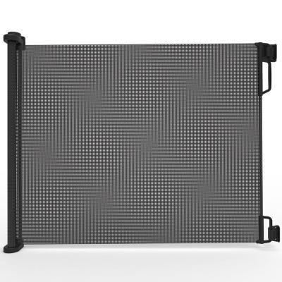33 in. H x 71 in. W Black Extra Wide Outdoor Retractable Gate