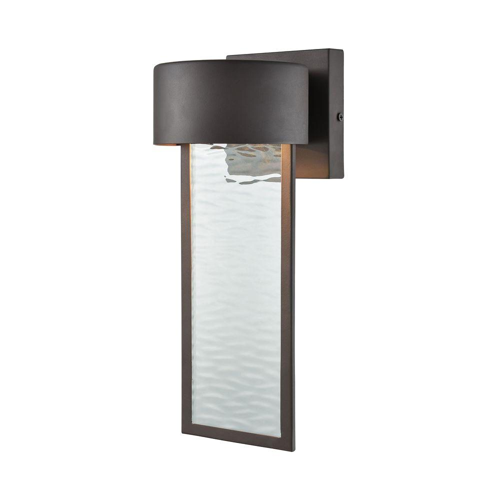Beautiful Titan Lighting Julius Clay Bronze Outdoor LED Wall Sconce