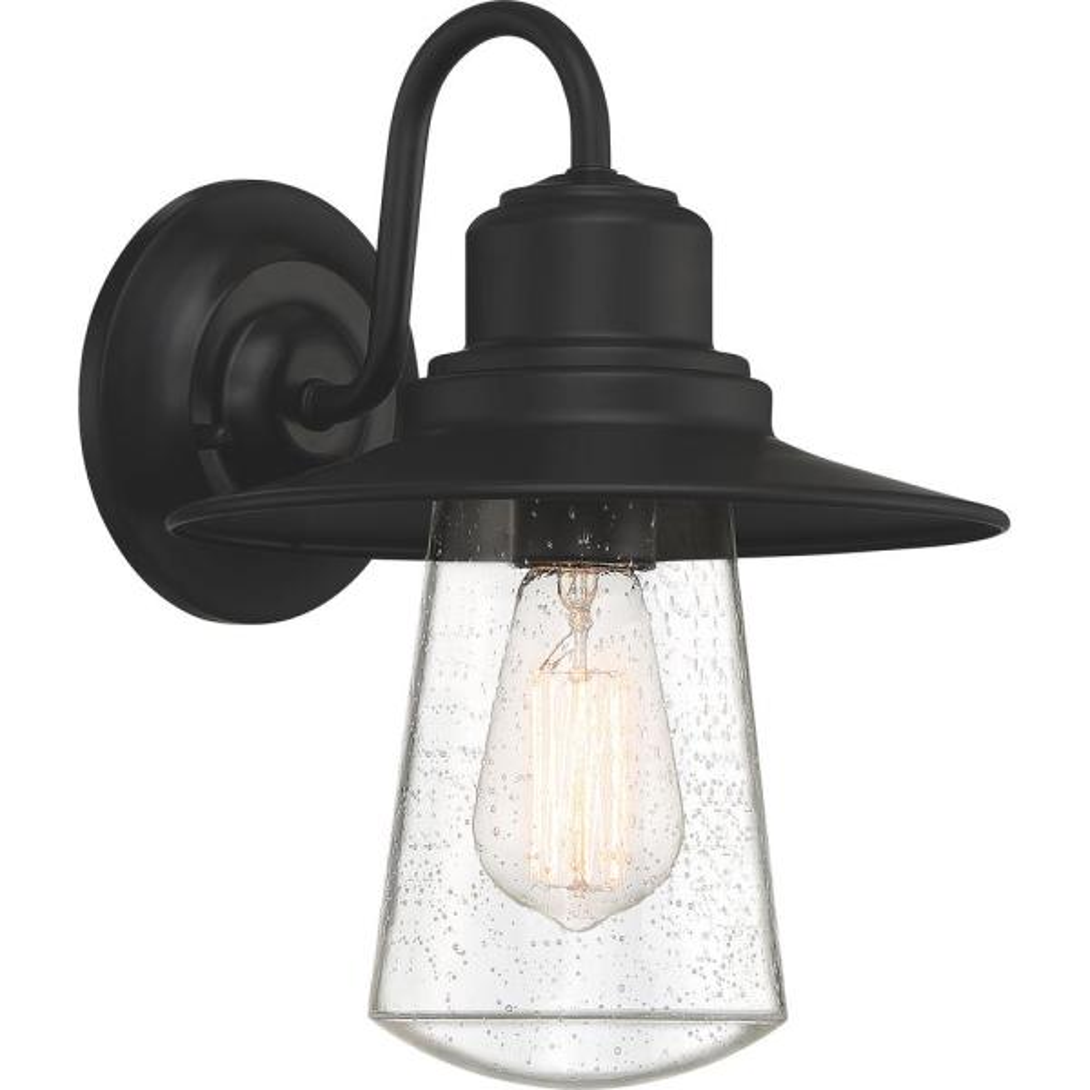 Radford 1-Light Black Outdoor Wall Lantern Sconce