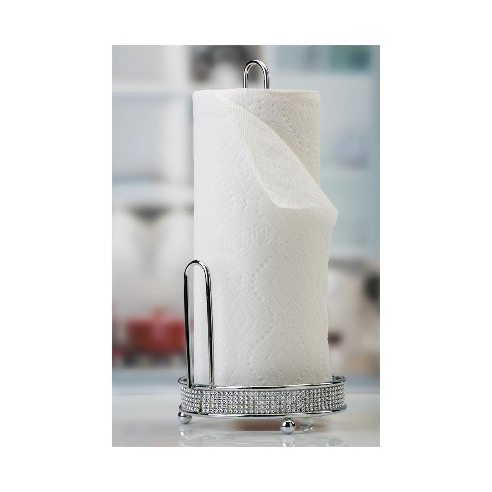Pave Diamond Paper Towel Holder