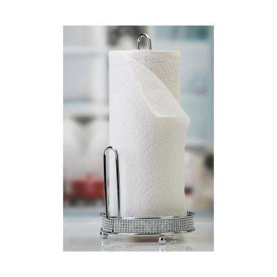 Pave Diamond Paper Towel Holder