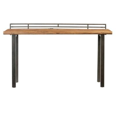 Harris Natural Reclaimed Elm and Rustic Black Metal Counter Table
