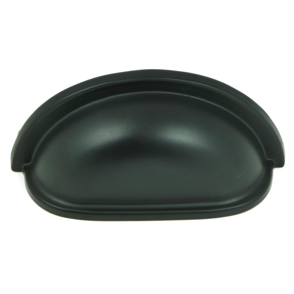 Center To Matte Black Cup Cabinet Pull 10
