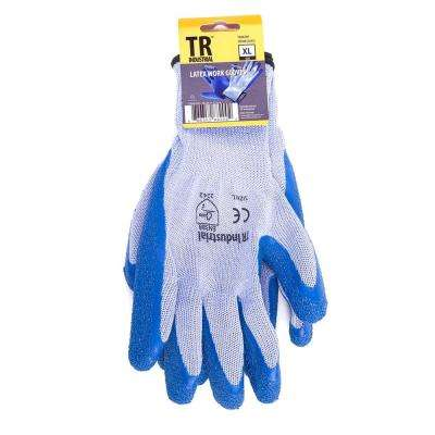X-Large Polyester Base Latex Coated Smooth Grip Working Gloves
