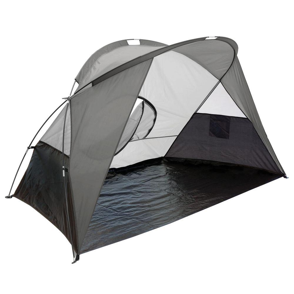 Picnic Time Cove Sun Shelter in Grey Silver and Black-DISCONTINUED