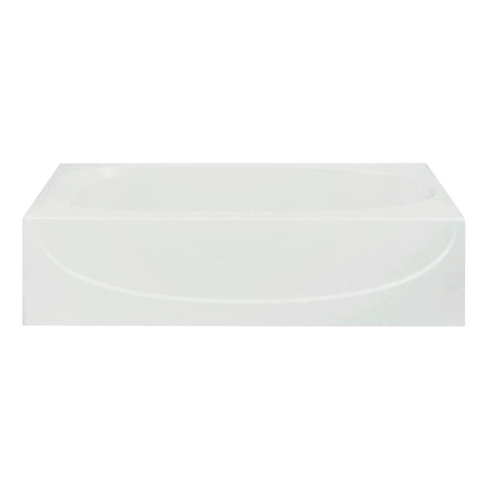 STERLING Acclaim 5 ft. Right Drain Rectangular Alcove Soaking Tub in White