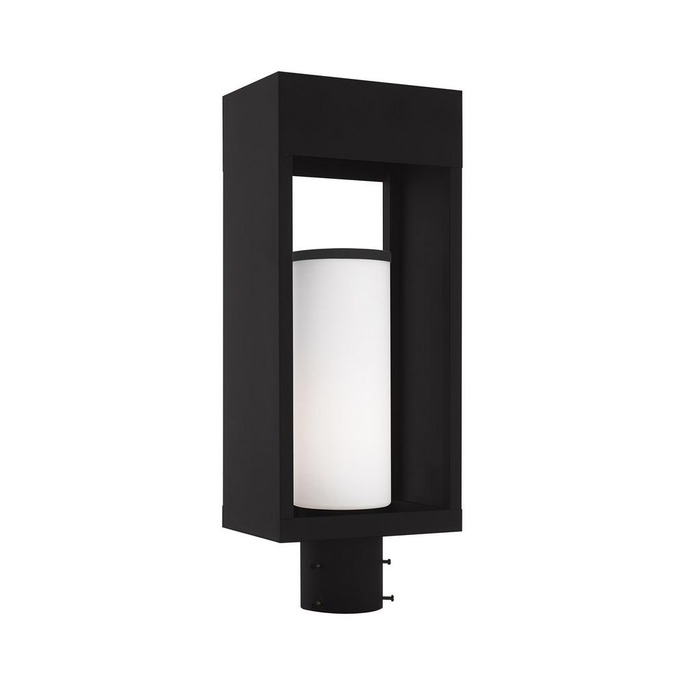 Bleecker Medium 1 Light Black Outdoor Post Top Lantern