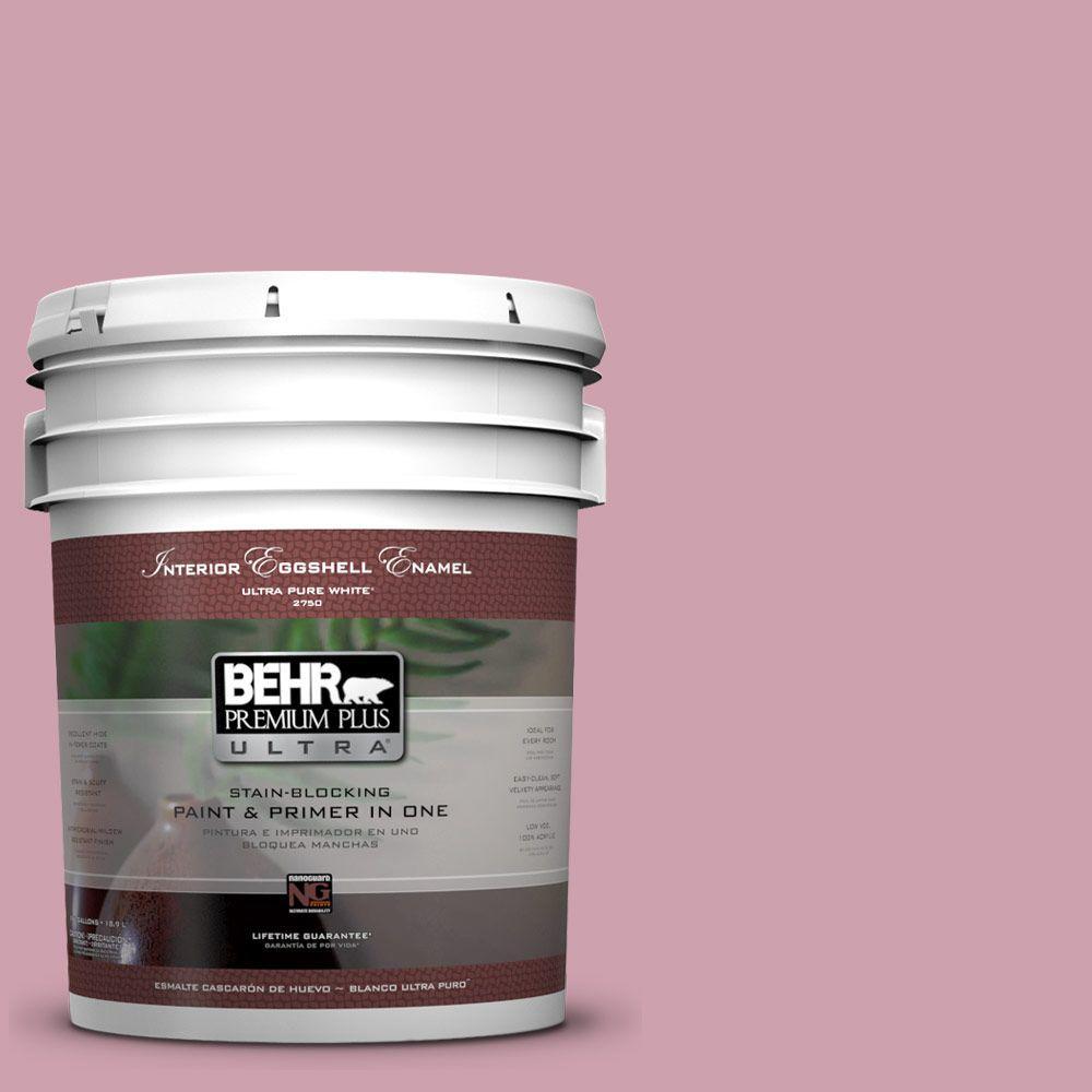BEHR Premium Plus Ultra 5-gal. #100C-3 Birthday Candle Eggshell Enamel Interior Paint