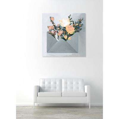 12 in. x 12 in. W 'Sending More Love' by The Oliver Gal Artist Co. Printed Framed Canvas Wall Art