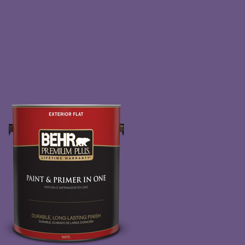 1 gal. #PPU16-02 Vigorous Violet Flat Exterior Paint