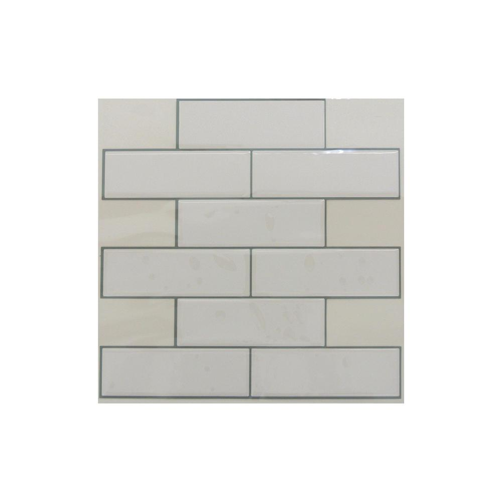 - StickTiles 10.5 In. X 10.5 In. White Subway Peel And Stick Tiles