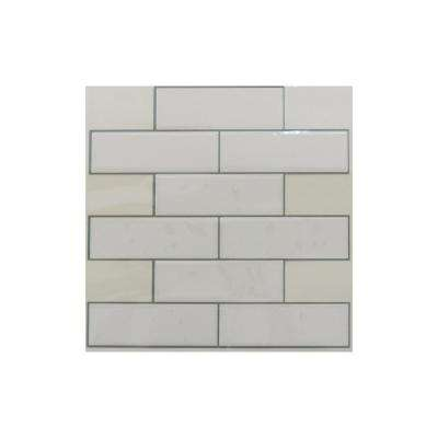 10.5 in. x 10.5 in. White Subway Peel and Stick Tiles (4-Pack)
