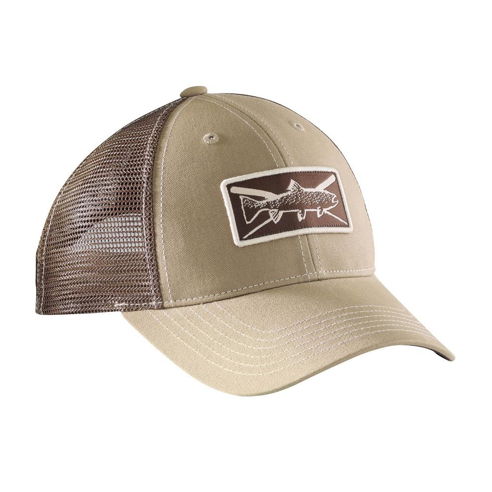 8ae0d81b4fa61 Flying Fisherman Khaki and Chocolate Trout Trucker Hat-H1750 - The ...