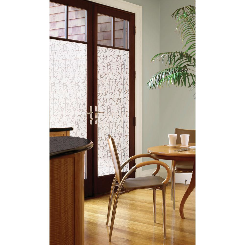 35.43 in. x 78.74 in. Bamboo Door Privacy Window Film