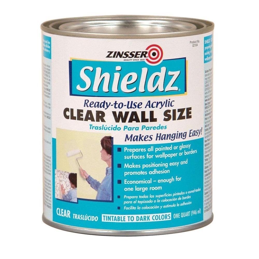 Zinsser 1 Qt Shieldz Acrylic Clear Wall Size Case Of 6
