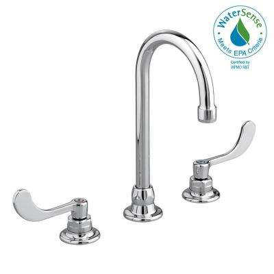 Monterrey 8 in. Widespread 2-Handle 1.5 GPM Gooseneck Bathroom Faucet with Rigid Swivel Spout in Polished Chrome