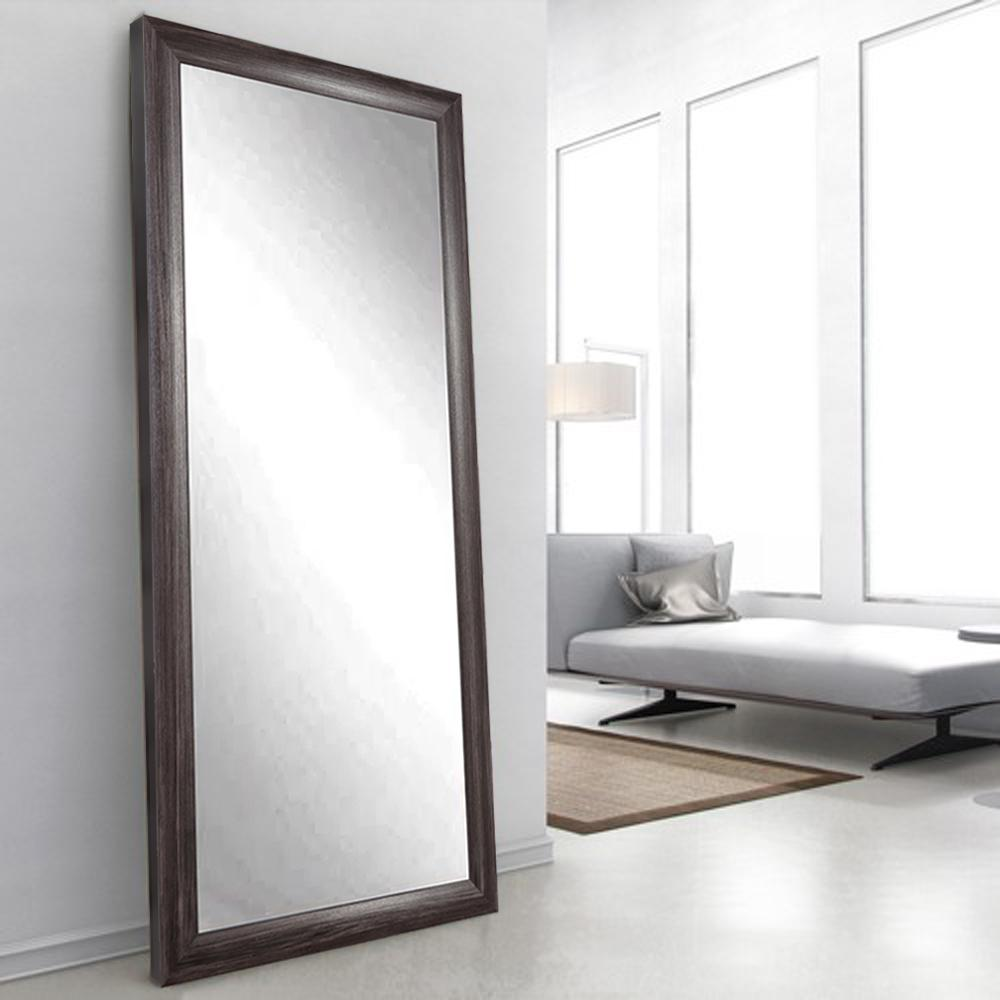 Montauk Night Dark Gray Tall Floor Mirror