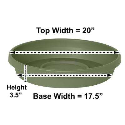 Terra Plant Saucer Tray 20 in Living Green