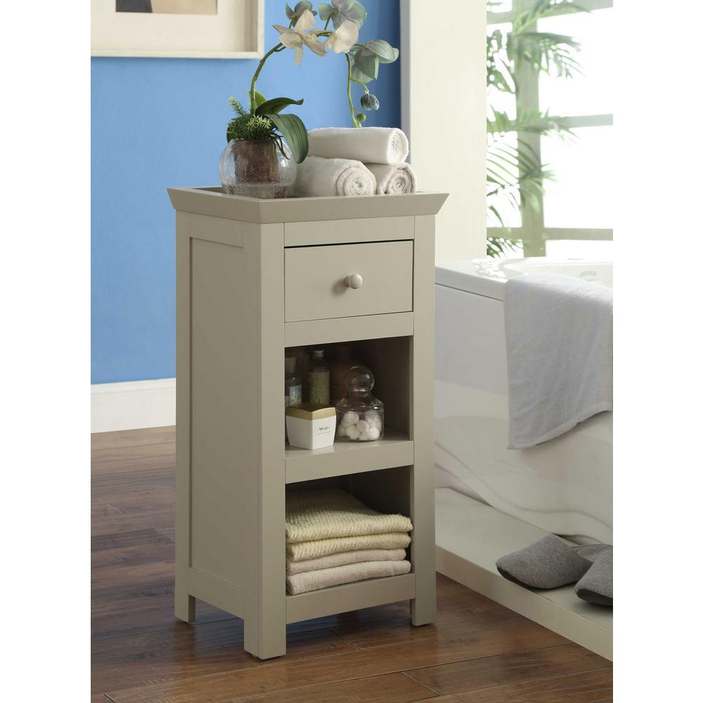 Rancho 15.75 in. W x 11.8 in. D x 30.3 in. H Bathroom Storage Cabinet in Vanilla Cappuccino