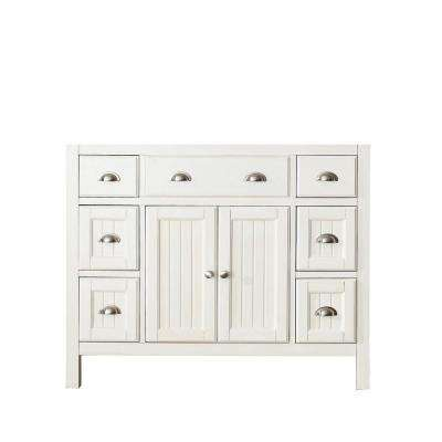 Hamilton 42 in. Vanity Cabinet Only in French White
