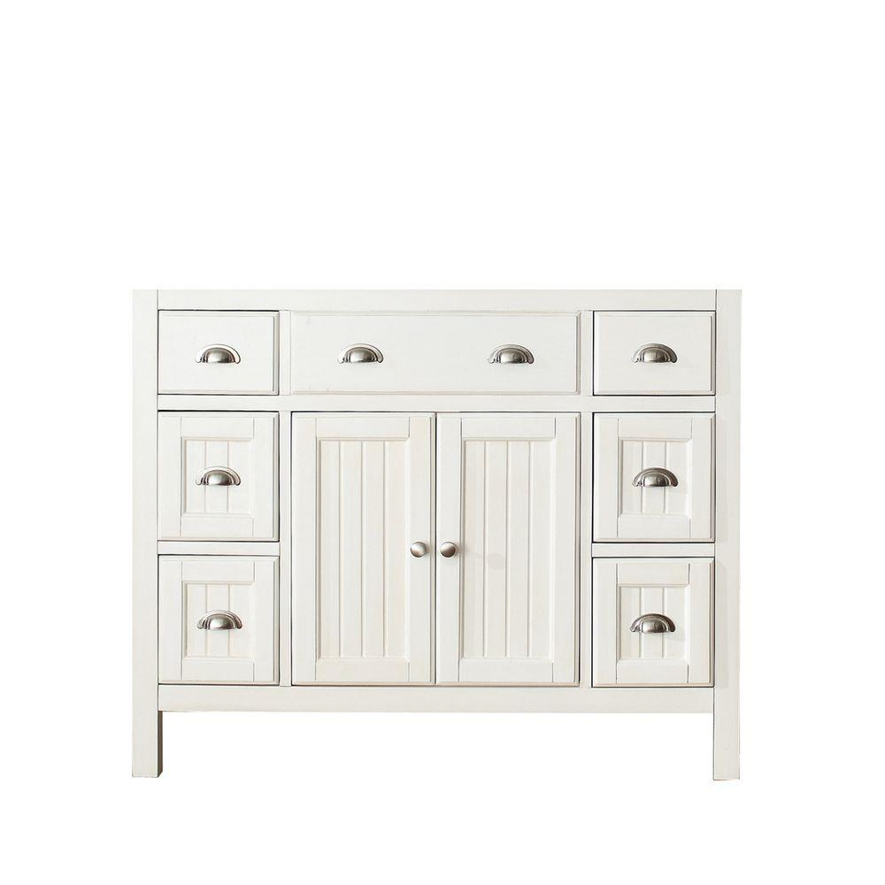 Vanity Cabinet Only In French White